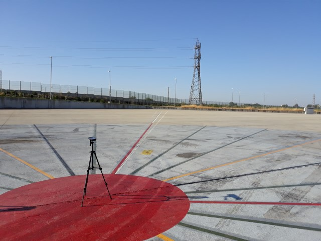 Compass calibration pad survey